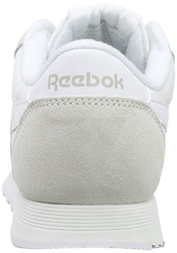 Light Weiß Sneaker Grey Herren Classic Nylon White Reebok RfSB6pS