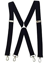 Suspenders for Men with Hooks on Belts Heavy Duty Big and Tall Adjustable Braces