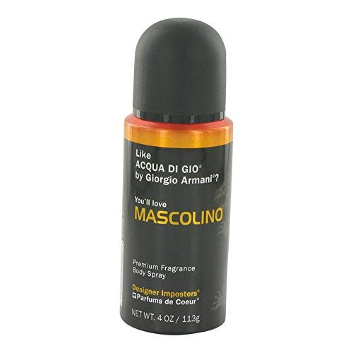 Imposters Fragrance (Designer Imposters Mascolino By PARFUMS DE COEUR FOR MEN 4 oz Body Spray)