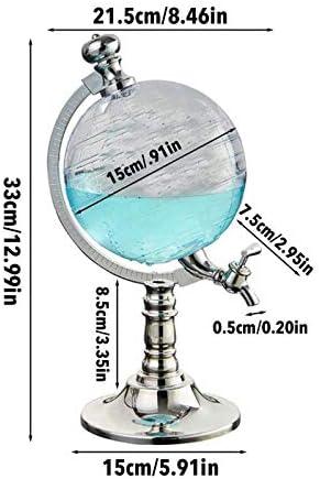 U/K Whisky Decanter Set Globe Wine Dispenser, Antique Glass Schnapps Dispensador de Vino Bebida Bebida Pender Pender Western Restaurante Bar Props (Color : A)
