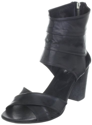 Sandalias De Area Forte Negro Cuero Ad1486 Mujer Para Et767q