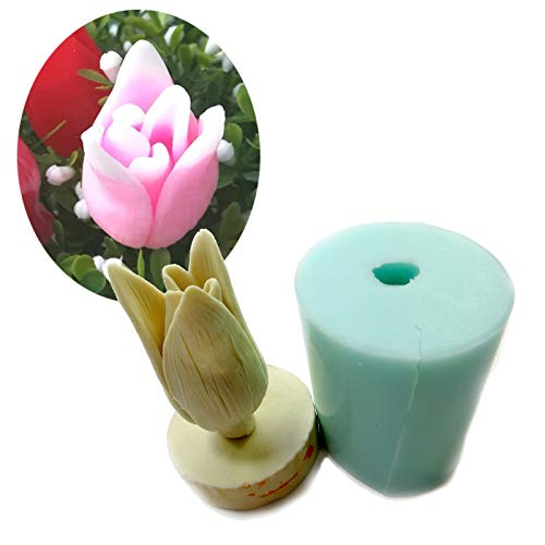 - Cookie Cutter|Cake Molds|3D Tulip Bouquet Flower Design Handmade Soap Mold Fondant Cake Silica Gel Mold Candle Decoration Mold HC0019|By REDDEATH