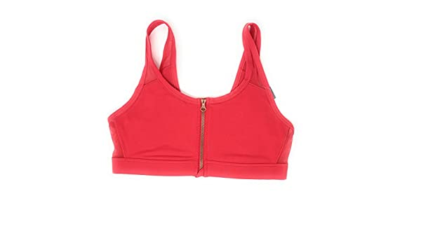 American Eagle Women S Aerie Move Zip Front Sports Bra Small Red