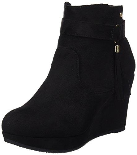 Xti Botin Sra. Antelina 30285, Zapatos De Tacón, Mujer Negro (Negro)