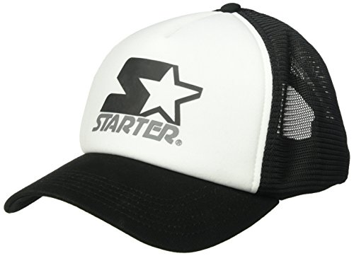 Starter Adjustable Hat (Starter Women's Mesh-Back Trucker Cap, Prime Exclusive, White/Black, One Size)