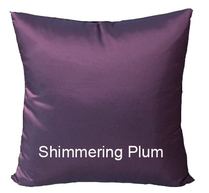 Shopping The Globe 1 Thai Silk Look 16''x16'' Pillow Cover (Pillow Not Included) - Shimmering Plum