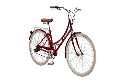 Pure City Dutch Style Step-Thru 8-Speed Bicycle, 45cm/ Medium, Melrose Oxblood Red Best Deal