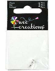 Wee Creations 1-Piece Effiel Charm, Silver
