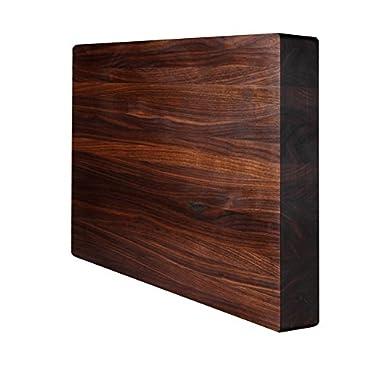 Kobi Blocks Walnut Edge Grain Butcher Block Wood Cutting Board 12  x 12  x 2