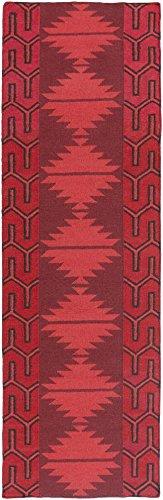 Surya Jewel Tone JTII-2069 Hand Woven Wool Southwest Runner Rug, 2-Feet 6-Inch by 8-Feet -