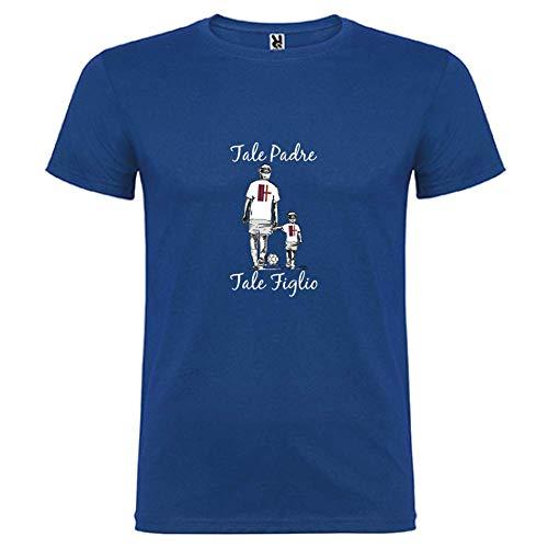 Royal By Tale Figlio Bikerella Bologna Manica shirt Corta Unisex T bianco Tifosi Padre KF31lcTJ