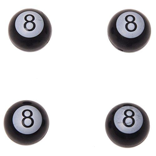 "TOOGOO(R) 4 x Universal Car Truck Bike ""Pool 8 Ball"" Tire air Valve Stem Caps Wheel Rims"