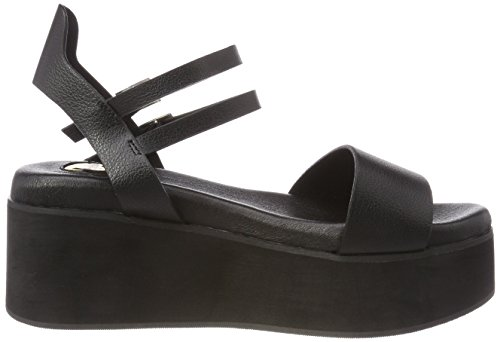 Buffalo Donna 316504 Gm S10383 01 # Sandali Con Il Cinturino Nero (nero 01)