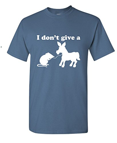 I Don't Give A Rats Ass Offensive Men's Sarcastic Funny T Shirt XL Dusk