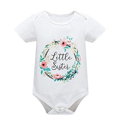 Yatong Baby Boys Girls Short Sleeve Bodysuit Onesies Baby Romper