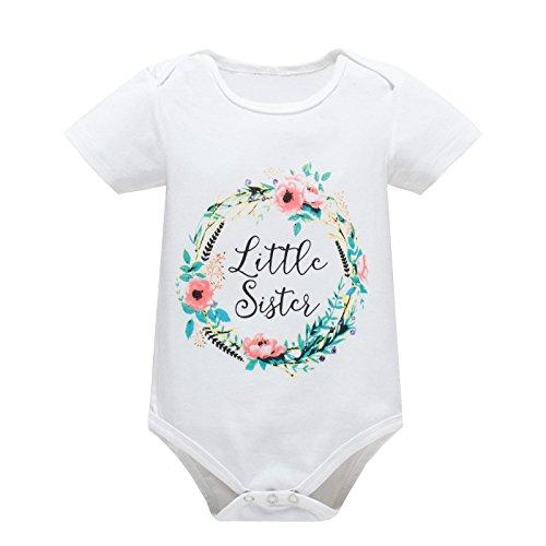 Yatong Baby Boys Girls Short Sleeve Bodysuit Onesies Baby Romper (0-6 Months, Sister)