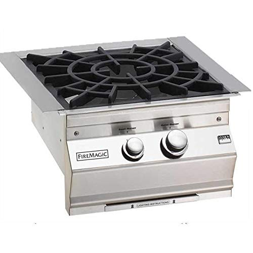 (Fire Magic Natural Gas Built-in Power Burner With Porcelain Cast Iron Grid -)