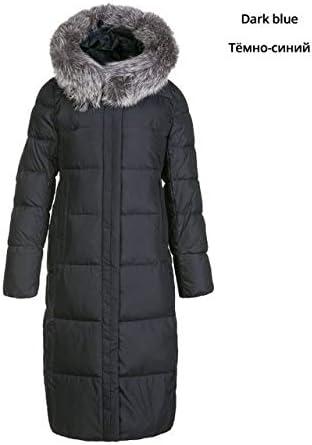 DTNSYRF Nuevo Invierno Largo Vestido de algodón para Mujer Moda ...