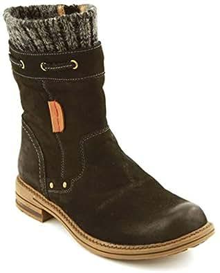 Amazon.com | COMFORTIYA Women's Synthia Black Leather