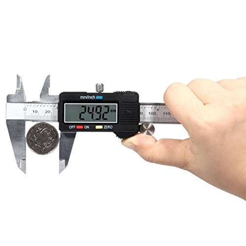 Digital Caliper Electronic Gauge Stainless Steel Tool Kit 150mm/6inch Micrometer by SisterYou (Image #5)