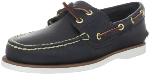 (Timberland Men's Classic 2-Eye Boat Shoe, Navy Smooth, 11 M)