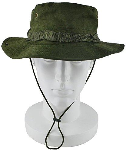 この医薬品藤色ViViLounge (ヴィヴィラウンジ) サファリハット ブーニー ハット 帽子 つば広 ひも付き uv カット 革ブレス付 メンズ
