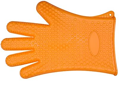 Silicone Gloves BBQ Grill Gloves Heat Resistant Oven Mitts Gloves Versatile Waterproof Insulated Non-Slip Potholders Silicone Gloves for Safe Handing