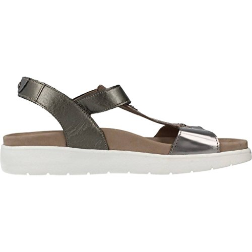 Mephisto Oceania - Dark Grey Perlkid (Leather) Womens Sandals Silver vHlP0JD9VF