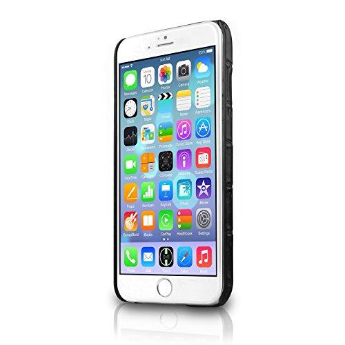 ITSKINS IAPH6-CARDC-BLK1 Corsa Leather Schutzhülle für Apple iPhone 6 schwarz
