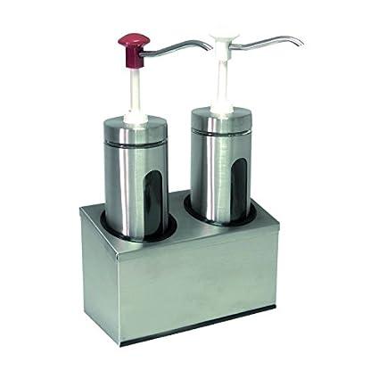 Dispensador de salsa de Juego de cristal & Acero inoxidable, con CNS de móvil,