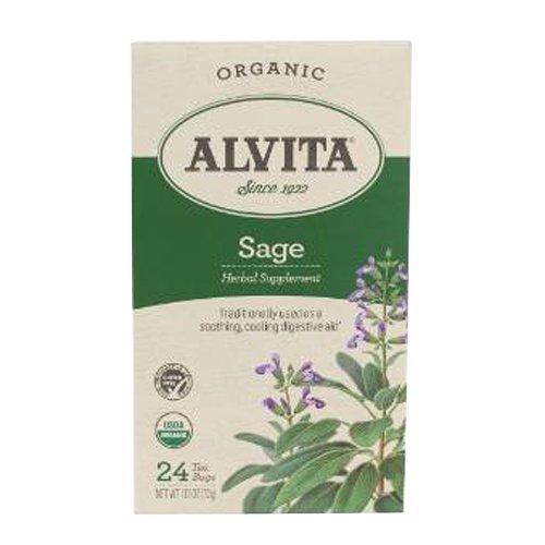 Alvita Sage Tea, Organic, 24 Count