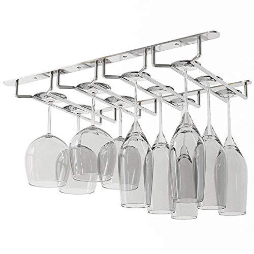 Wine Racks - Under Cabinet Stemware Wine Glass Holder Storage Rack 13.5 Inch Deep - Three Bronze Undercounter Women Wooden Black Storage Under Bottle Kitchen BuiltFloor Gold Modular Plas