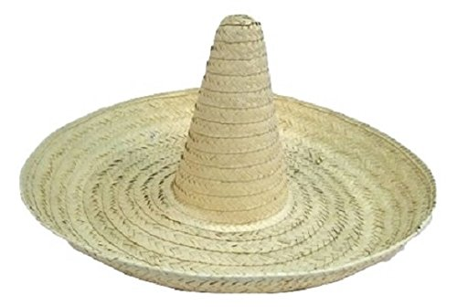 Amazon.com  Giant Jumbo Sombrero Hat Zapata Straw Spanish Mexican Adult  Costume Accessory  Clothing cb9863f86c7f