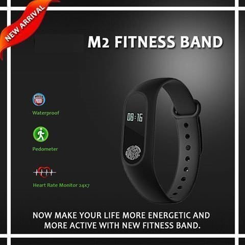 2dozay Smart M2 Fit Band Activity Tracker Bluetooth Smartwatch Wrist Band  with Bluetooth 4 0 Compatible For All Smartphones(Black)