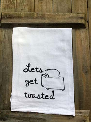 Amazon.com: Flour Sack Kitchen Dish Towel With Sayings