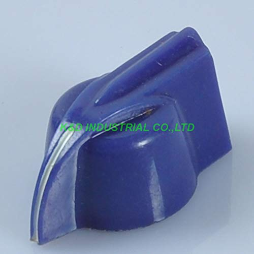 Jammas 10pcs Blue Chicken Head Knob For Audio tube Guitar Amplifier Vintage Amp Parts - (Standard: Female, Color: Blue) ()
