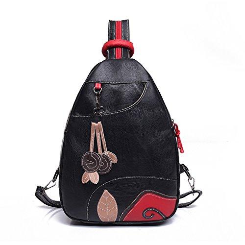 Lavar la mochila de cuero/Pecho de Sport Pack/Mochila pequeña-A A