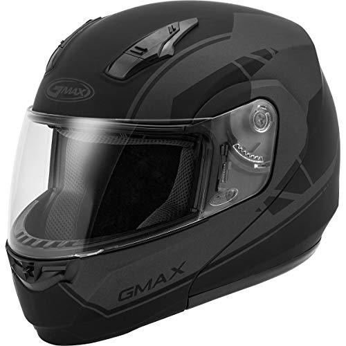 (GMAX MD-04 Modular Article Adult Street Motorcycle Helmet - Matte Black/Grey/X-Large)