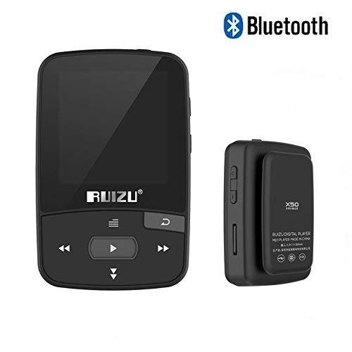 Original RUIZU X50 Mini Sport Clip Bluetooth mp3 Player 8GB Music Player Support TF Card FM Radio Recording E-Book Pedometer ()