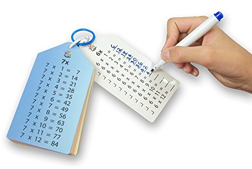 Include Answer Key (Multiplication Flash Cards (0-12) with Key Rings and Bonus Markers and Multiplication Facts Charts)