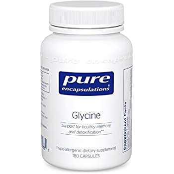 Pure Encapsulations - Glycine - Hypoallergenic Supplement Support for Healthy Memory and Detoxification* - 180 Capsules