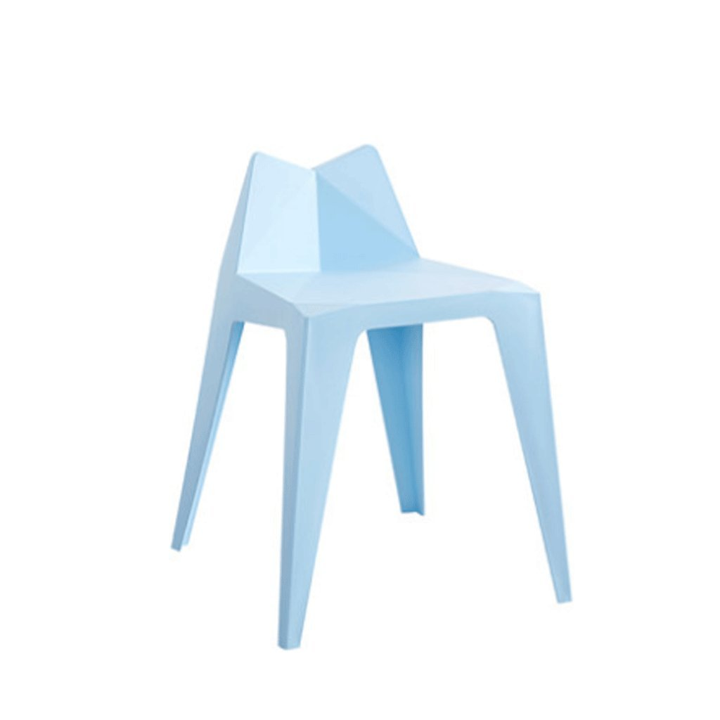 Color : White Stools simple Plastic living room adult fashion home creative thickened high table Benchs LONGGANG