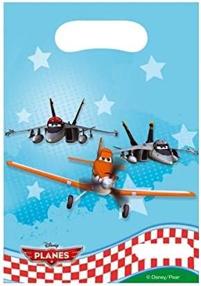 Vasara Bolsas de cumpleaños Aviones (Pack de 6 uds.): Amazon.es: Juguetes y juegos