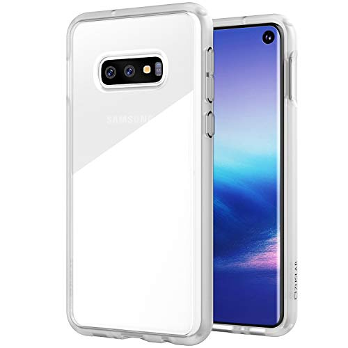 - ZUSLAB Tough Fusion Designed for Samsung Galaxy S10e Case with Transparent Back Cover - Matte White