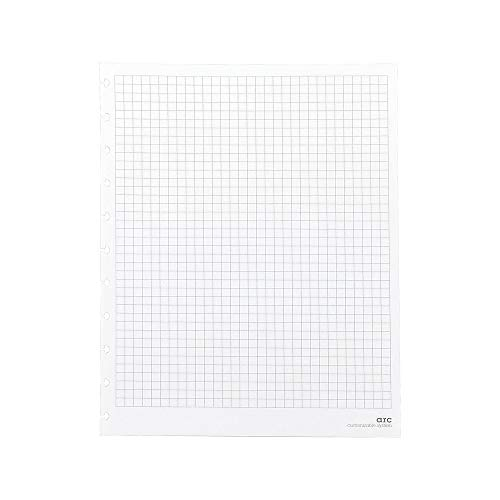 Staples? Arc Notebook Filler Paper, Letter-Sized, Graph-Ruled, White, 50 Sheets ()