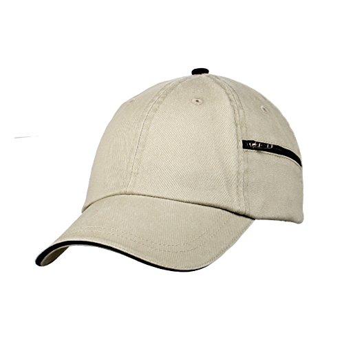 (Carpe Diem Unisex Pigment Dyed Hat w/ Zipper Side Pocket 7661)