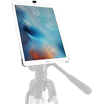 iShot G8 Pro iPad Pro 12.9 Tripod Mount - Securely Mount Your Apple iPad Pro to Any 1/4 inch Thread Standard Camera Tripod, Monopod, Mic Stand or Music Stand - Custom Fit Easy Snap in/out Feature