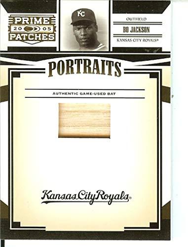 2005 Prime Patches Portraits Bat #55 Bo Jackson MEM 40/100 Royals from Prime Patches