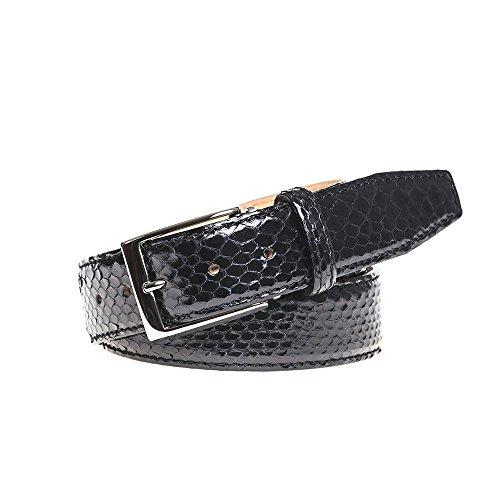 Black Python Leather Belt by Roger Ximenez: Bespoke Maker of Fine Leather Goods