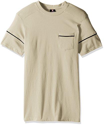 Southpole Men's Crewneck Short Sleeve Fashion Tee, Bone(biker),  Large